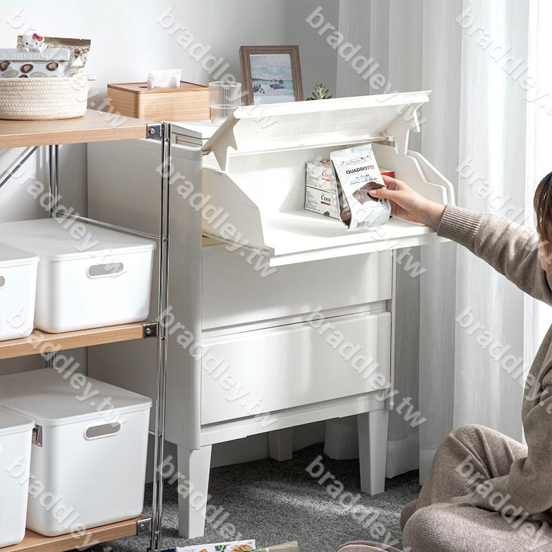 特惠☆日本進口前開式收納箱柜斜翻蓋塑料兒童玩具家用抽屜儲物盒整理箱braddley.tw