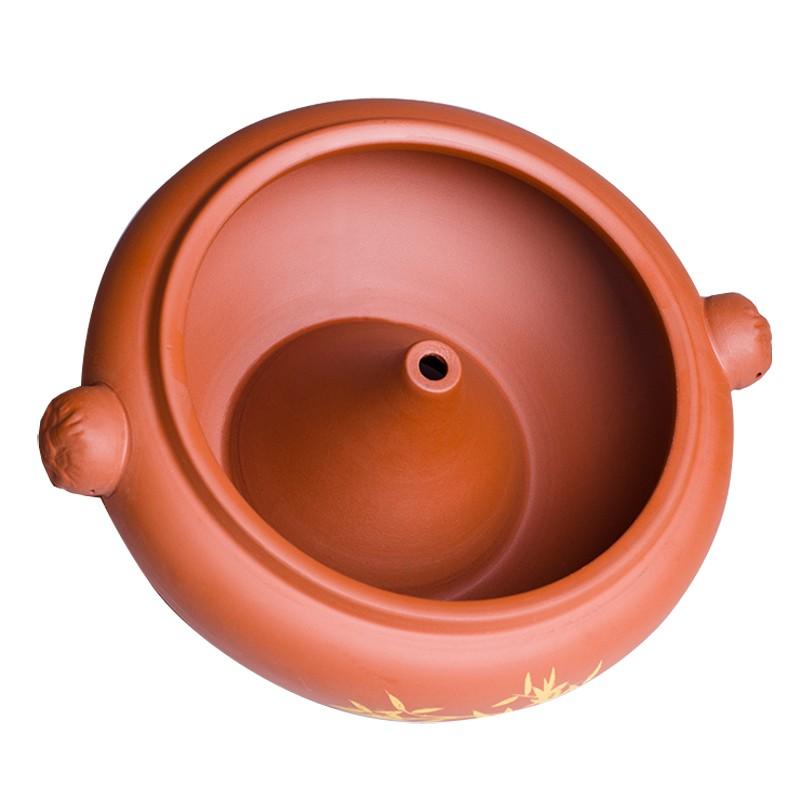 (砂鍋)(湯煲)汽鍋雞汽鍋家用陶瓷加厚云南建水商用紫陶小氣鍋燉鍋砂鍋大容量