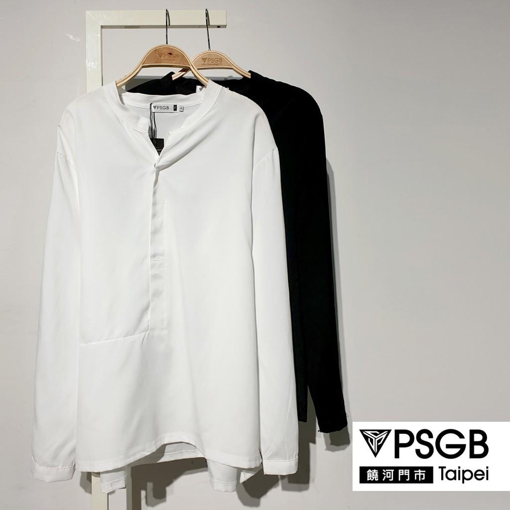 PSGB Taipei - 9-0046 立領方拼長襯衫 - 韓系 - 春夏 - 現貨