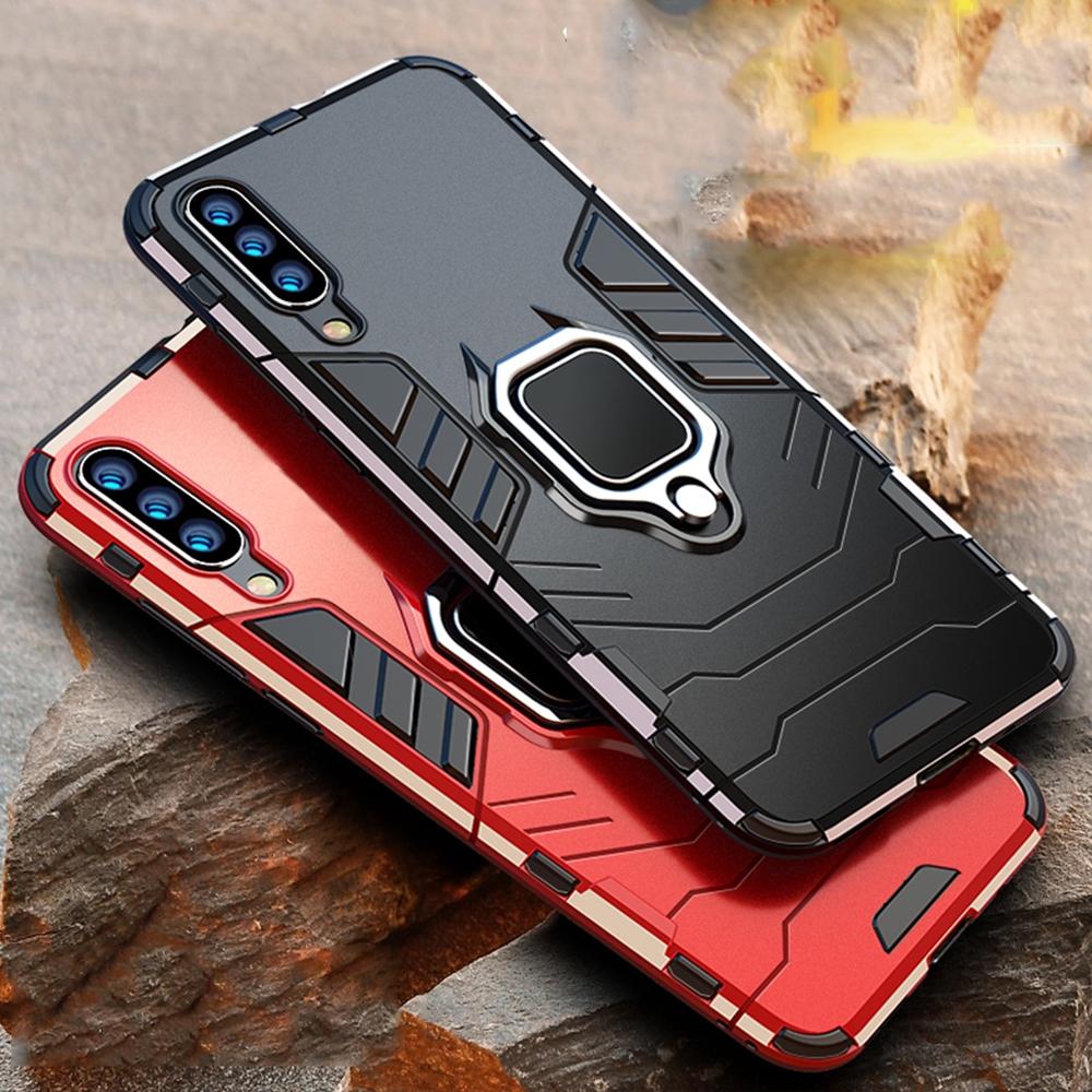 三星 Galaxy A10 A20 A30 A50 A70 Case Armor Pc 保護套 Tpu 邊框指環支架盒防