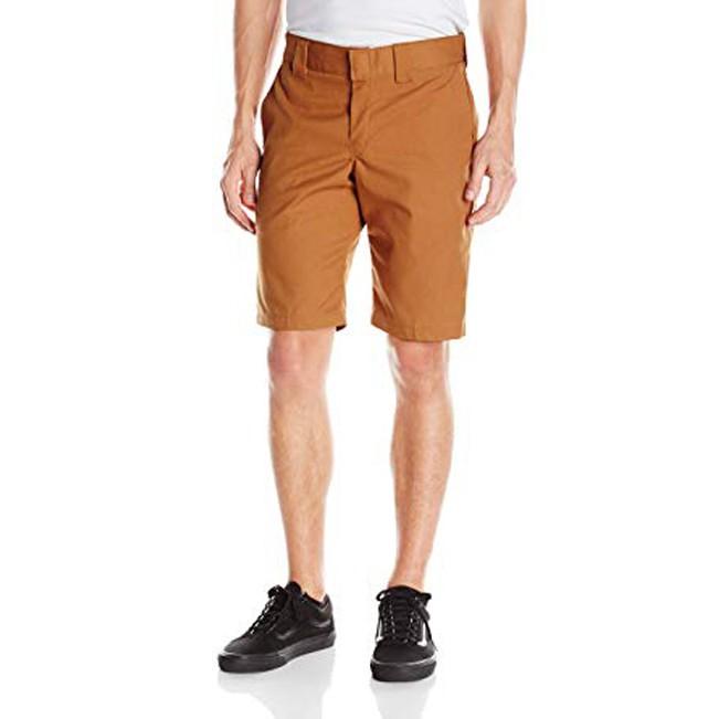 【DICKIES】WR849 Slim Fit 中低腰小直筒斜紋布 工作短褲 (BD 駝色) 化學原宿