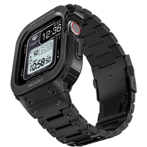 ㊣USA Gossip㊣ amBand Pro+ 不鏽鋼保護殼 軍規級 G-Shock 樣式 Apple Watch