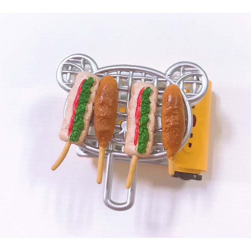 Re-ment 絕版 熱狗 燒烤 烤串 關東煮 雞肉串 居酒屋 燒烤 食玩 rement 袖珍食物