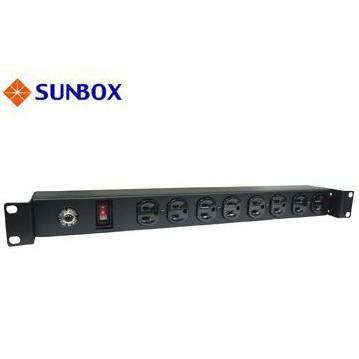 【六絃樂器】全新 Sunbox SPU-1512-08S 機櫃排插 電源分配 / 8孔15安培PDU 附開關