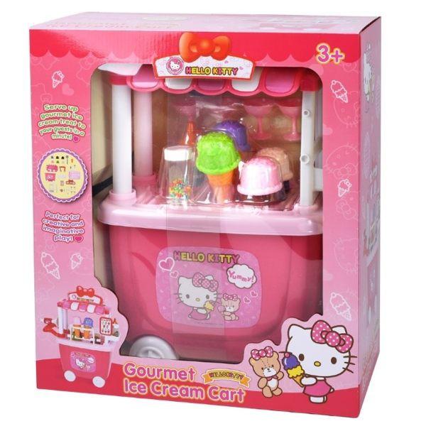 【HELLO KITTY】KT冰淇淋車/Ice Cream Cart / 攤車 / 餐車 / 玳兒玩具