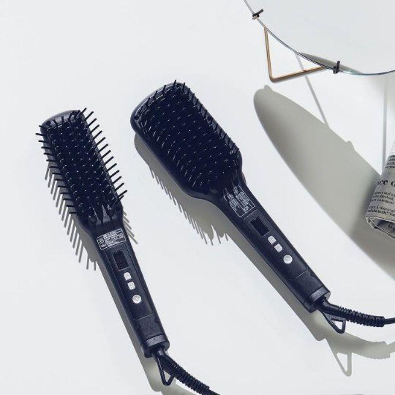 SALONIA 負離子整髮器(黑色) SL-012BK寬版---直髮梳 整髮梳SALONIA負離子整髮器