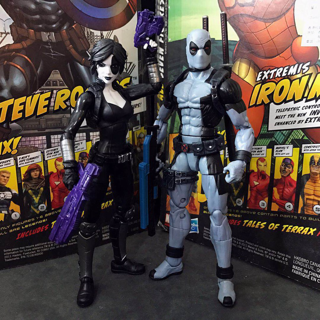 ❤BiN BIn❤Marvel Legends x-force 白幽靈多米諾灰死侍6寸可動模型