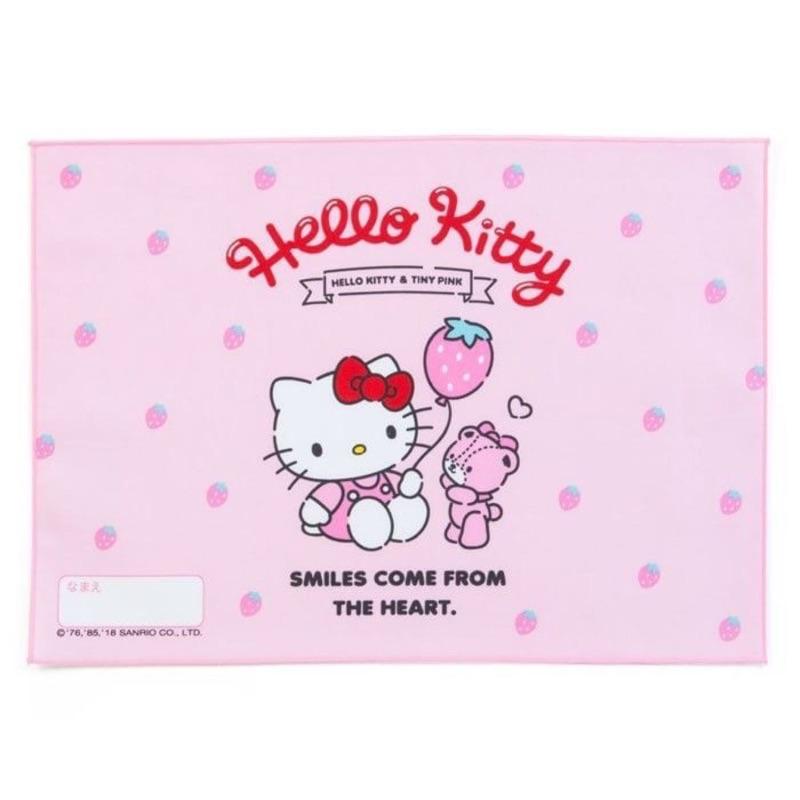 Kitty日製餐巾手帕 餐巾 餐具止滑墊《粉.草莓.小熊》便當包巾 桌巾正版三麗鷗賣場還有賣美樂蒂哆啦A夢史努比