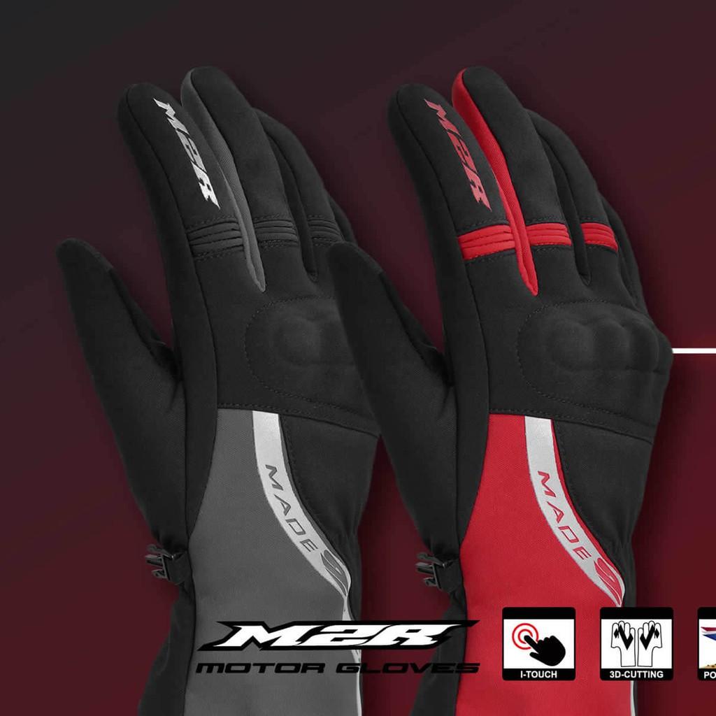 M2R G-19 冬季保暖防水防風觸控手套 長版 硬式拳眼護具 夜間反光Logo