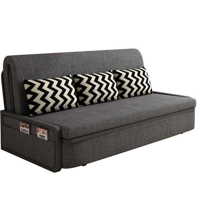 @免運#多功能皮沙發床,疊布藝沙發床兩用折疊沙發床單人雙人1米1.2米1.5米1.8米折疊床客廳書房小戶型