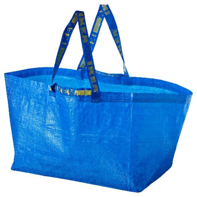 【亮菁菁】IKEA FRAKTA 環保購物袋/七彩彩虹繽紛購物袋大容量 可當洗衣籃