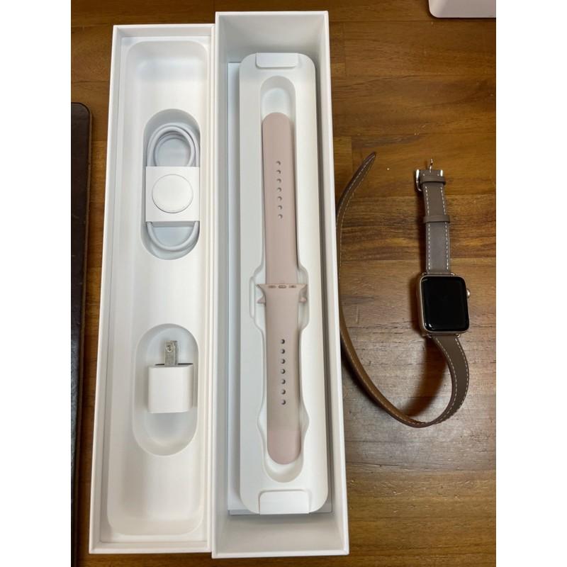 Apple Watch series 3 二手 42mm 玫瑰金 GPS 原廠盒裝/配件齊 S3