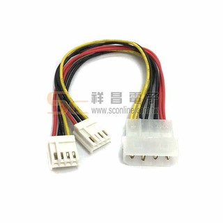 【祥昌電子】PW-4 電源線 Y線 Y-Cable 1大2小 大四P線材 電腦散熱風扇線材 20cm 臺北市