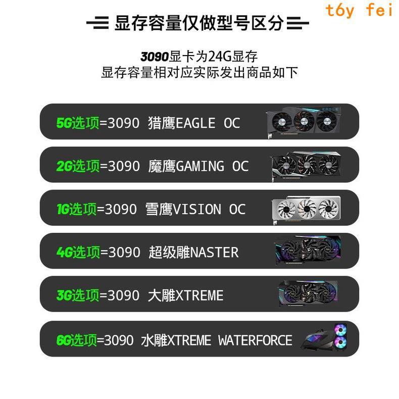 快速~全新技嘉RTX3090 GAMING OC 24G魔鷹雪鷹超級雕MASTER大雕顯卡