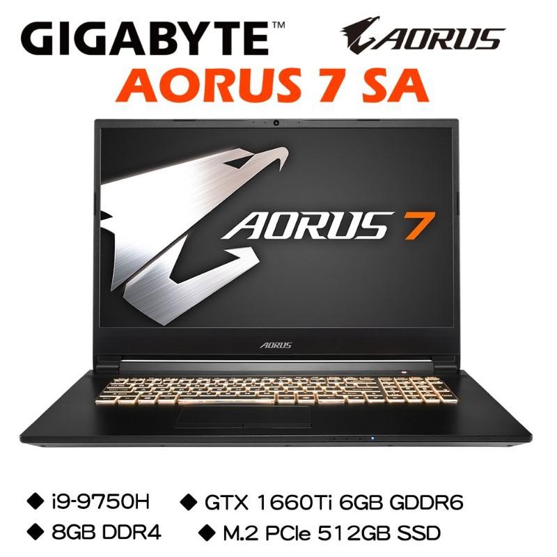 技嘉 AORUS 7 SA i7-9750H/GTX1660Ti 6G/8G DDR4/M.2 512G 電競筆電