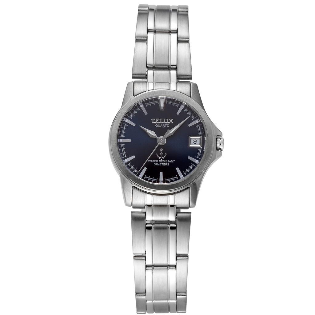 台灣品牌手錶腕錶【TELUX鐵力士】藍色序曲系列腕錶手錶25mm 台灣製造石英錶250123L-S深藍