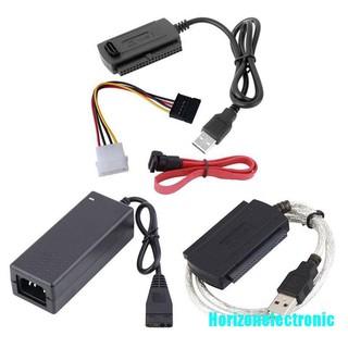 用於2.5 /  3.5英寸硬盤驅動器的SATA /  PATA /  IDE到USB 2.0適配器轉換器電纜轉接頭