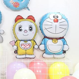 現貨廠家直銷 寶寶滿月裝飾兒童週歲生日派對佈置哆啦A夢機器貓鋁膜氣球