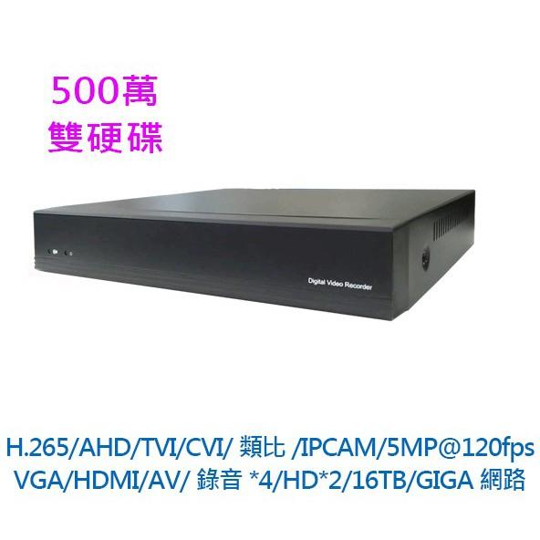 監控主機 LiDex 526C 5合1 16路 4入聲音輸入 4K DVR 監視器 AHD CVI 500萬