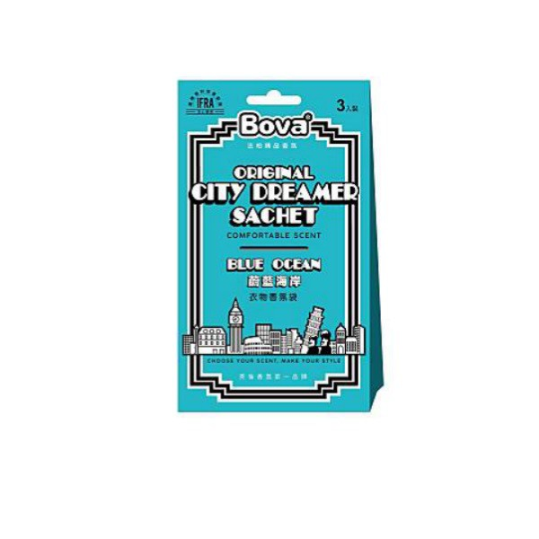 法柏Bova城市夢想家衣物香氛包-蔚藍海岸【康是美】