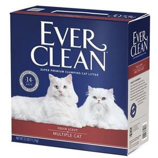 ★ 寵物信號★ Ever Clean 藍鑽 超凝結貓砂 藍鑽美規 25磅 強效抗菌結塊貓砂 低敏抗菌多貓用 藍鑽紅標 新竹市