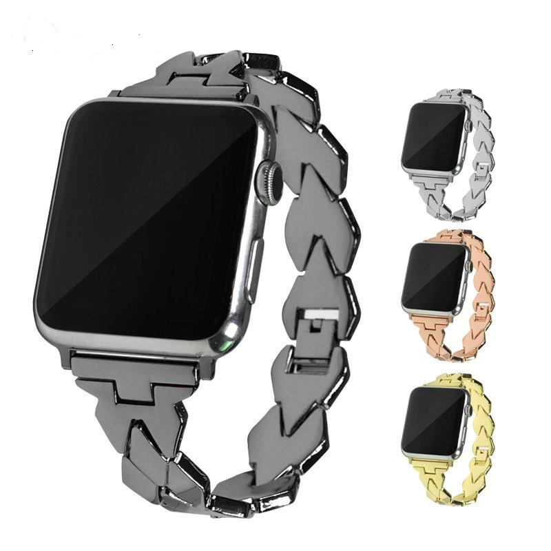 適用於iWatch3/2/1代不銹鋼菱形不規則錶帶菱形替換錶帶