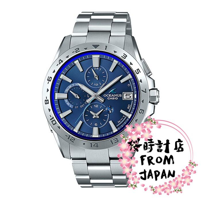 【日本原裝正品】卡西歐 CASIO OCEANUS 海神 太陽能電波藍牙男錶 OCW-T3000-2 智能手機鏈接