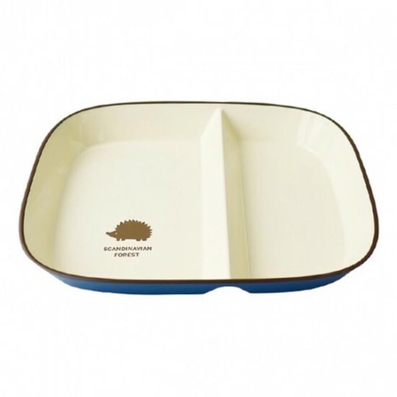 現貨 日本製 北歐 MOZ 刺蝟餐盤 餐盤 餐具 盤子 森林餐盤 刺蝟 野餐 紅/藍 -富士通販