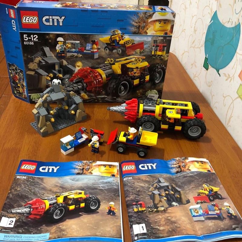 「二手轉賣」LEGO樂高 CITY城市 60186 採礦重型鑽孔機