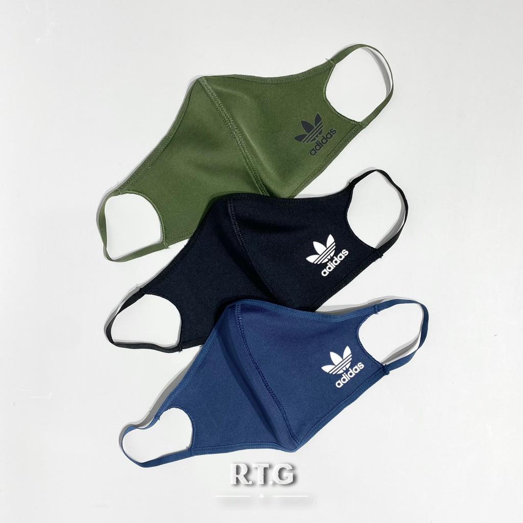 【RTG】ADIDAS OG FACE COVERS 口罩 黑色 軍綠 深藍 三色一組 可水洗口罩 非醫療 H59842