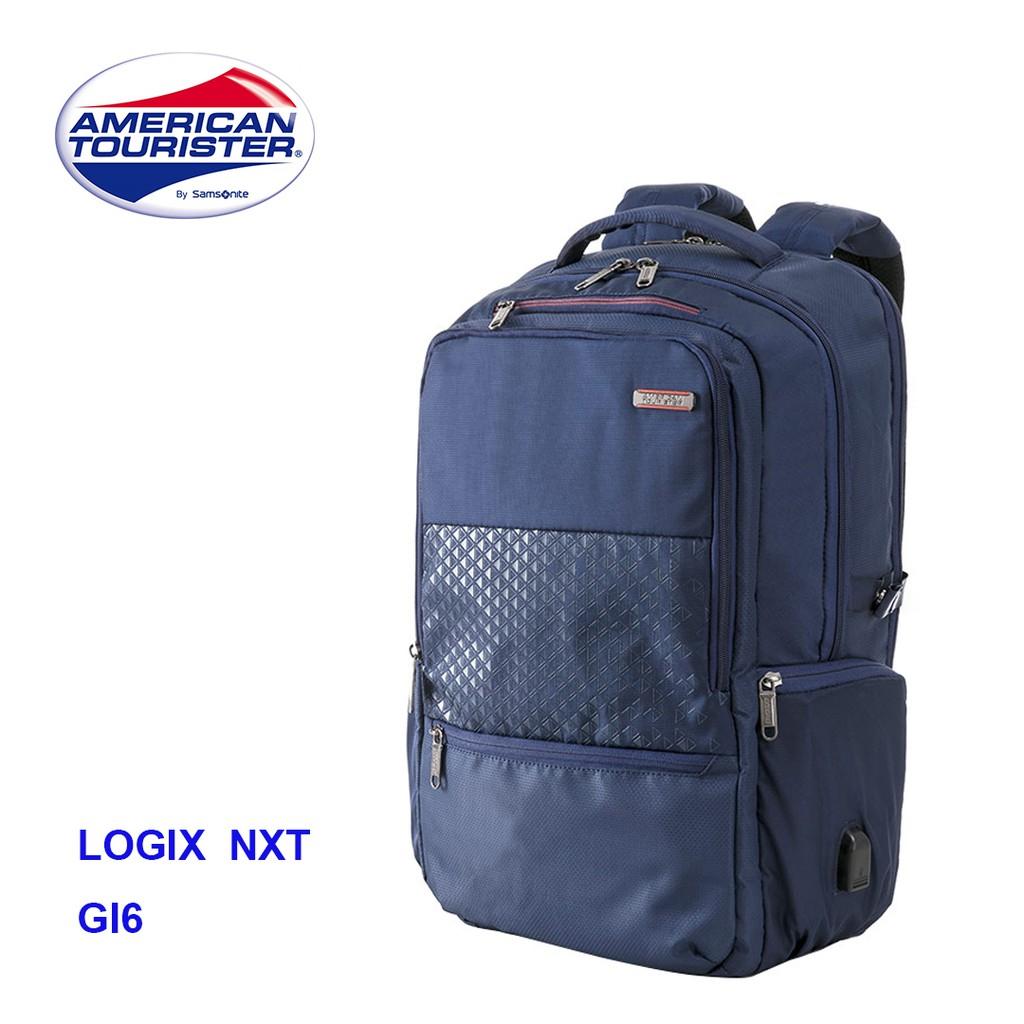 特價AMERICAN TOURISTER美國旅行者17吋筆電後背包外接USB孔附筆袋雨套LOGIX NXT GI6