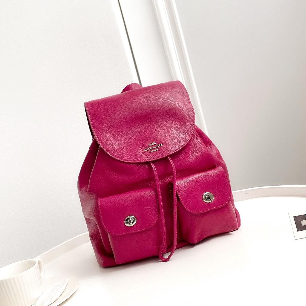 #美国代購#COACH 蔻馳女包 F37410 經典 大號翻蓋抽繩 雙肩包 大容量 後背包 多口袋 出差旅行包 書包