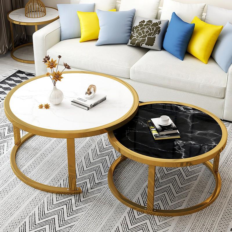茶幾小戶型客廳簡約現代家用臥室創意北歐圓桌組合輕奢茶臺小邊幾新科家具店