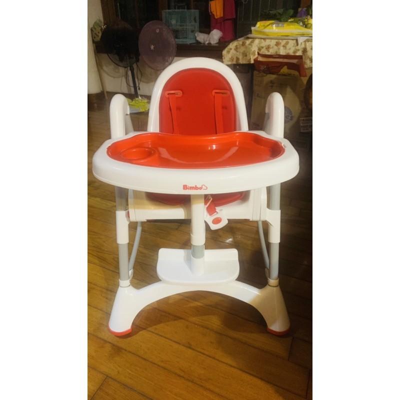 《近全新》BIMBO安全兒童餐椅-紅色-高度可調整