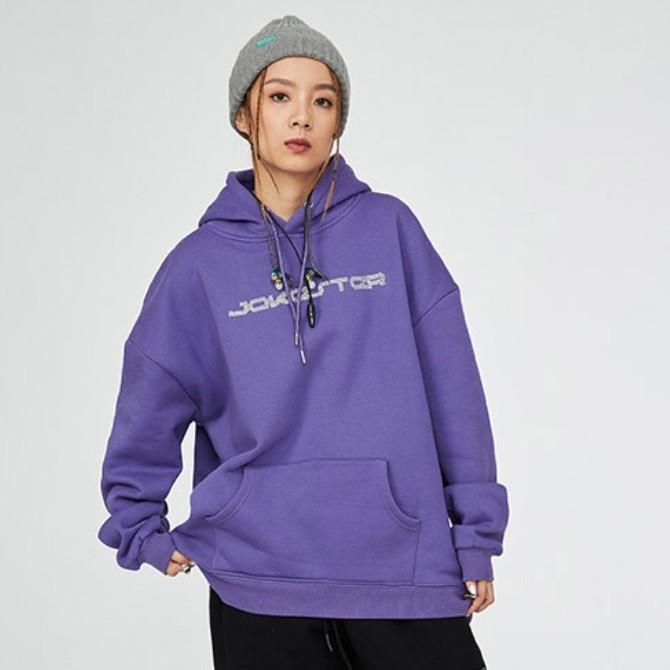 【JOKESTER】字幕LOGO印花寬版帽TEE 紫色/黑色/白色/杏色/螢光綠