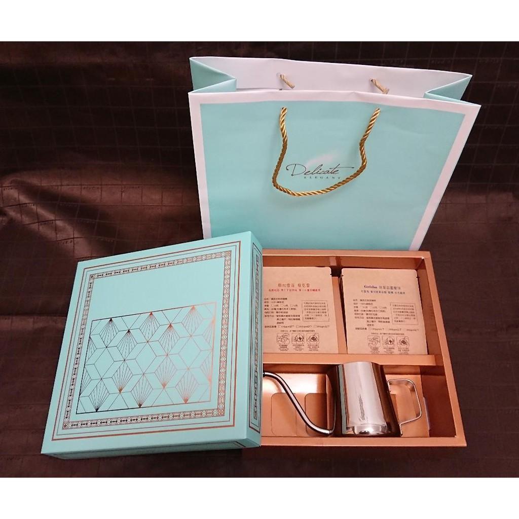 *濾掛禮盒* 精品咖啡濾掛包(耶加雪菲 )+手沖壺