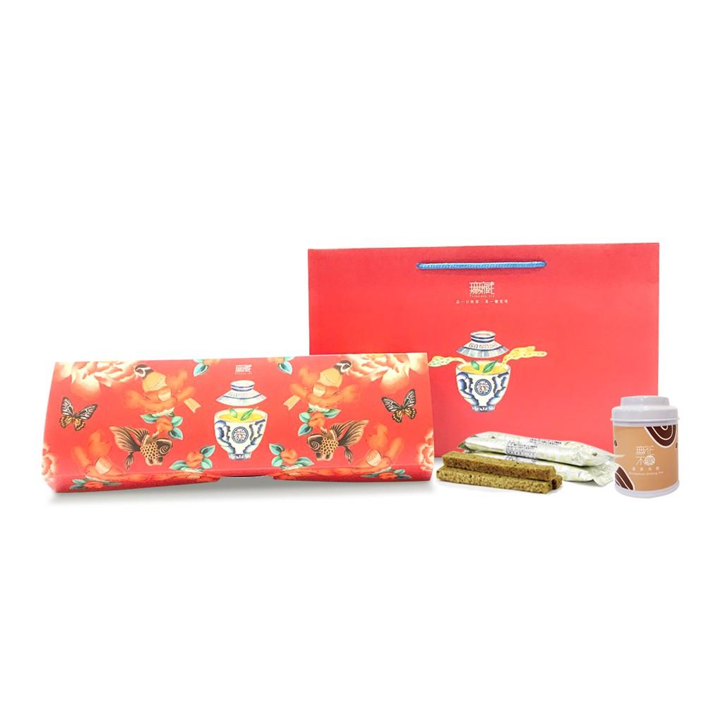 【經典長禮盒】小茶罐+茶食禮 (2款可選)_新年禮盒K