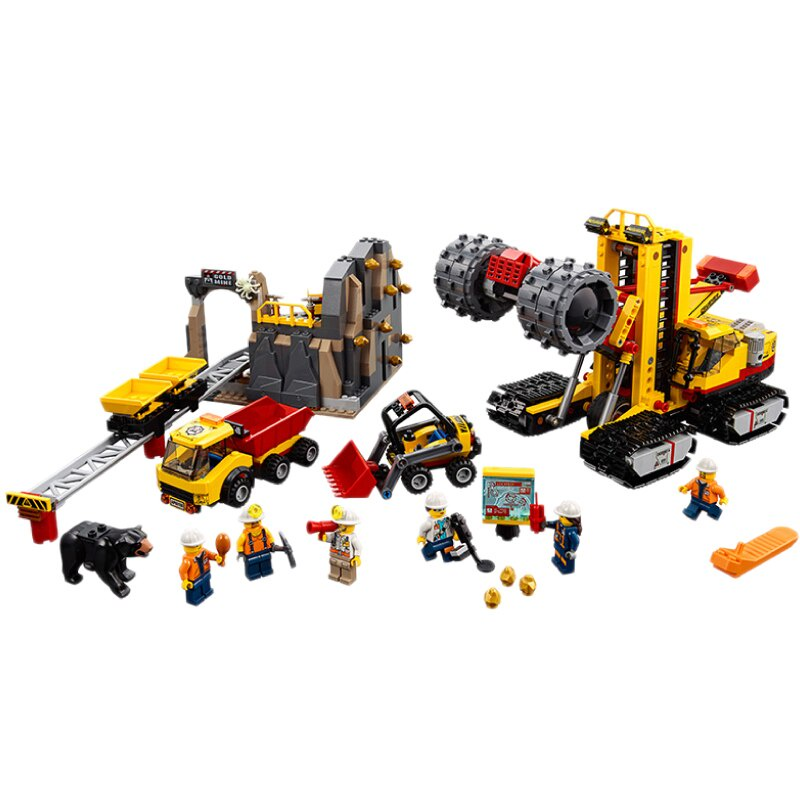 樂高LEGO城市 採礦場 專家基地鑽孔 工程車 益智積木 玩具男孩 60188