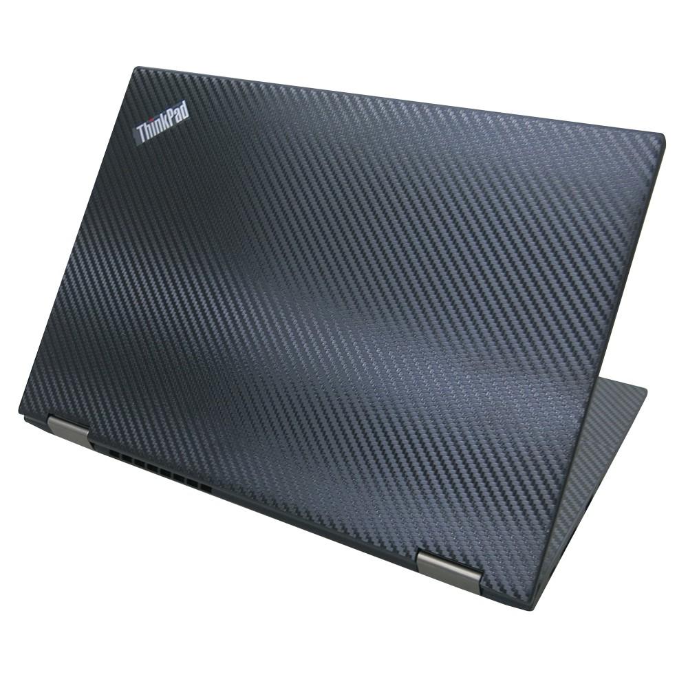【Ezstick】Lenovo ThinkPad X13 YOGA Carbon紋黑色機身貼 (上蓋貼、鍵盤週圍貼、底部
