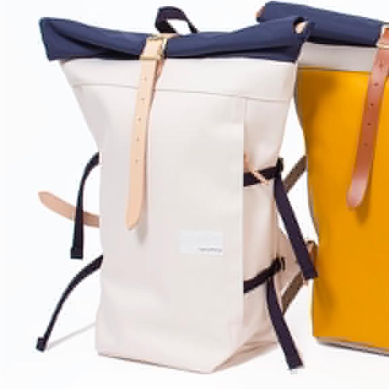 Nanamica 日本製造,帆布/牛皮後背包,騎自行車包