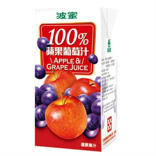 波蜜 100%蘋果葡萄汁(160mlX6包/組)[大買家]