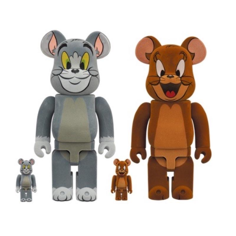 現貨Be@rbrick TOM&JERRY湯姆貓與 傑利鼠 植絨 400% 100% 湯姆貓 傑利鼠BE@RBRICK