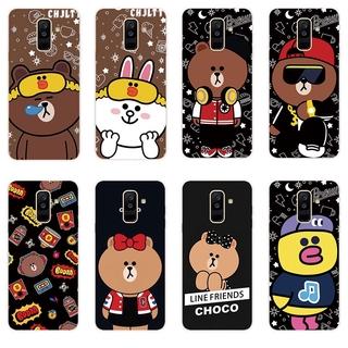 手機殼矽膠軟殼三星 Galaxy A6 A6+ Plus A7 A8 A8+ Plus A9 2018 布朗熊第二套