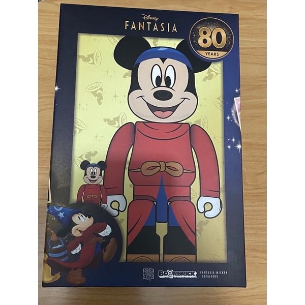 BE@RBRICK FANTASIA MICKEY 100% & 400% 庫柏力克熊 魔法米奇 迪士尼80週年紀念版