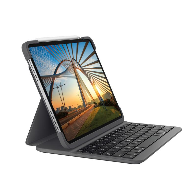 「全新」Logitech 羅技 SLIM FOLIO PRO 藍牙鍵盤保護套, iPad Pro 12.9吋 2018