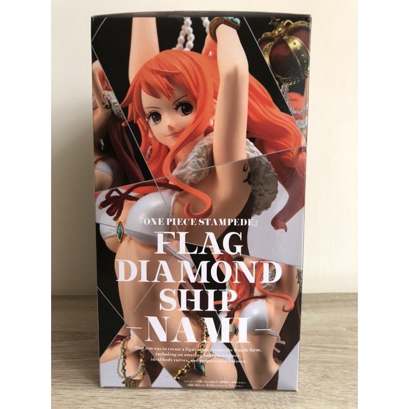 金證日版 BANPRESTO 海賊王 劇場版 FLAG DIAMOND SHIP 娜美 皇冠 泳裝 比基尼 一番賞