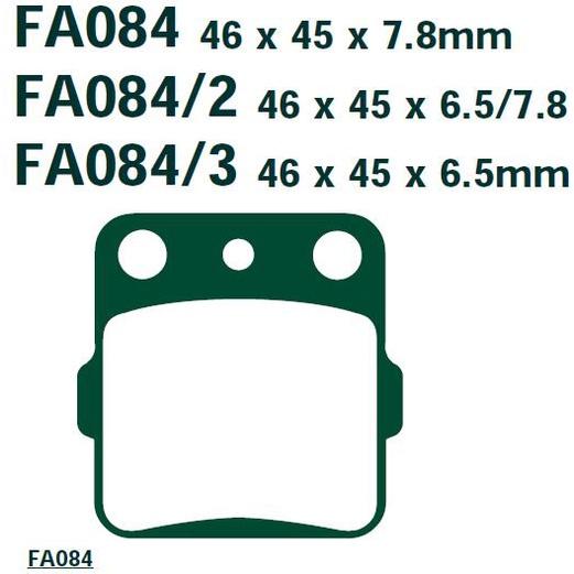 陶瓷鈦條紋來令片適用於本田 CR80 CR85 ATC250 TRX250 CRF150 TRX300 前剎車皮煞車片