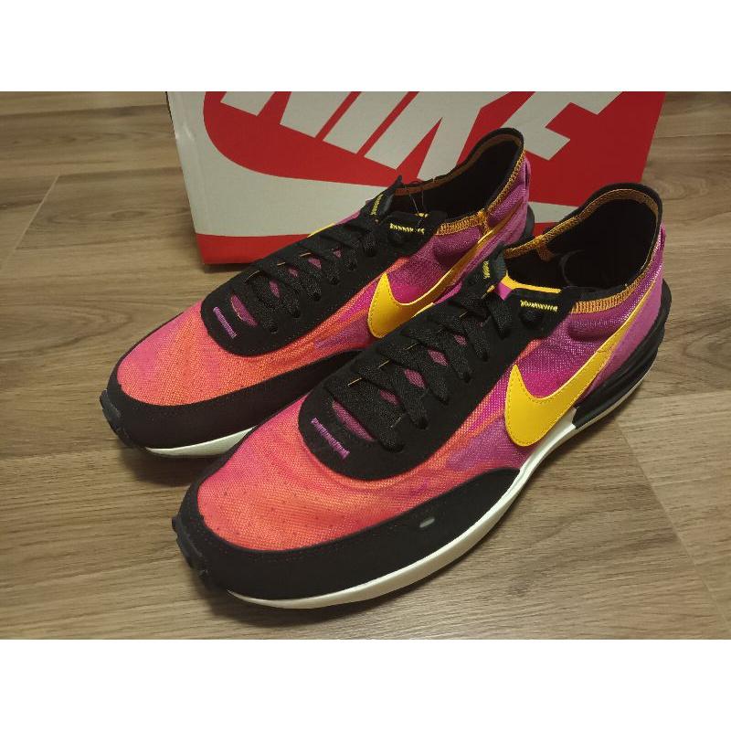 1 紫黑黃配色慢跑鞋 Nike Waffle One 平民版Sacai 西瓜 us12 30cm 全新正品公司貨