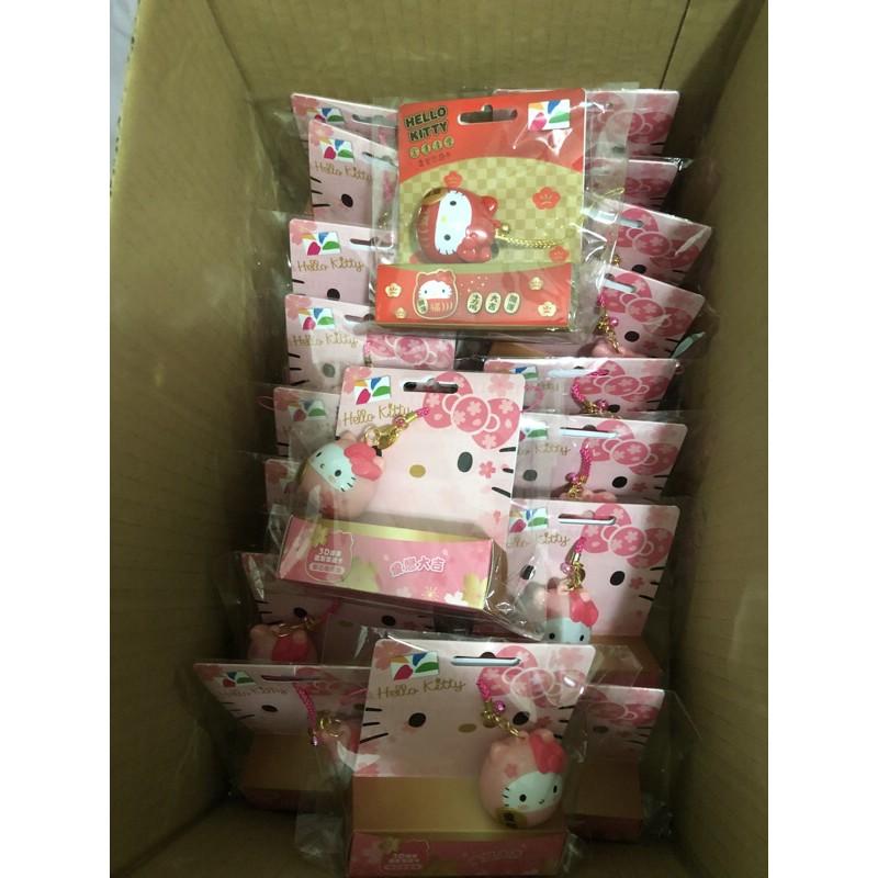 7-11 Hello Kitty達摩3D造型悠遊卡-櫻花限定款