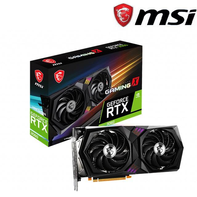 微星 GeForce RTX 3060 GAMING X 12G 顯示卡
